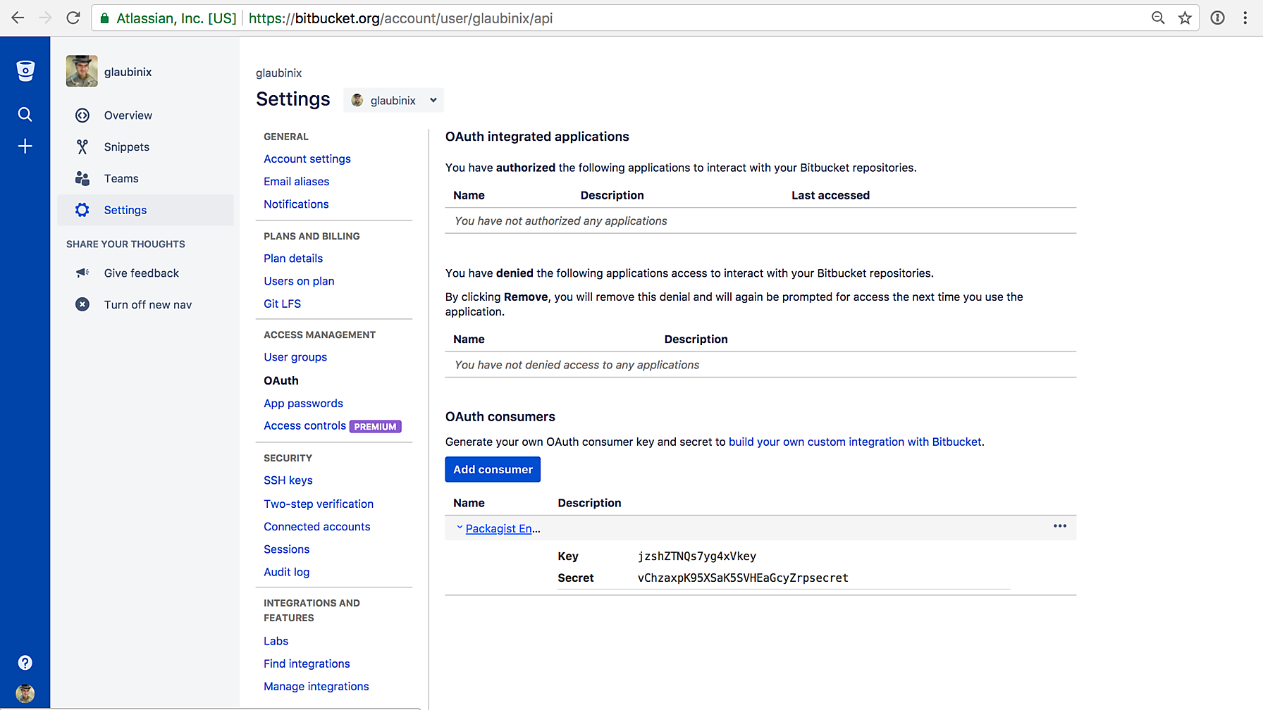 Bitbucket Form